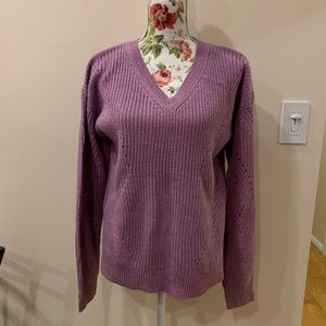 A New Day Purple Sparkle Sweater Sz M